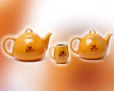 čajový set oranžový